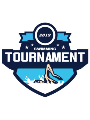 Swimming Tournament logo template