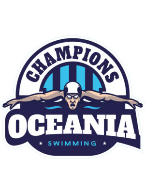 Oceania Champions Swimming logo template