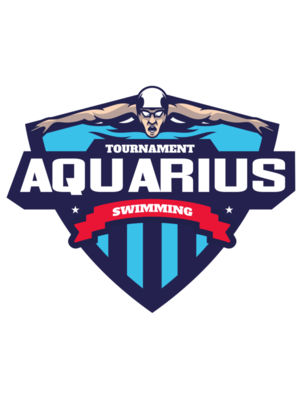 Aquarius Swimming Tournament logo template