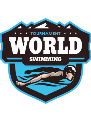 World Tournament Swimming logo template
