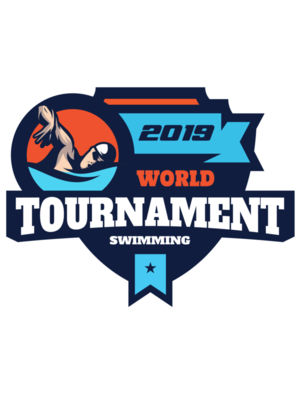 Tournament World  Swimming logo template