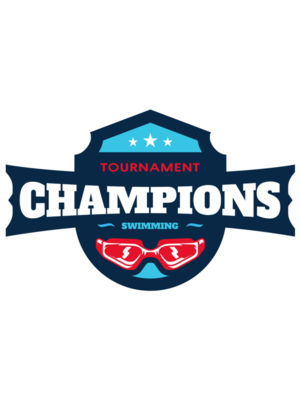 Champions Tournament Swimming logo template