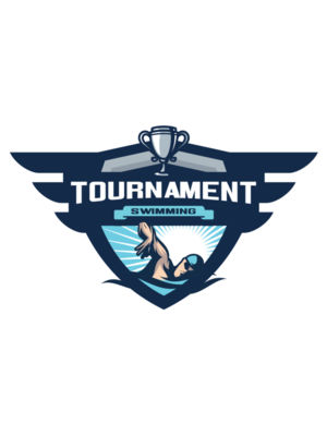 Swimming Tournament logo template 04