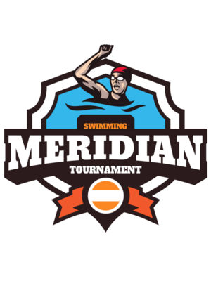 Meridian Tournament Swimming logo template
