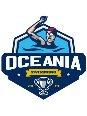 Oceania Swimming logo template